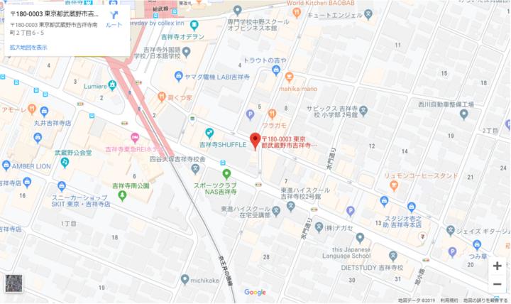 Yugamiドックの地図